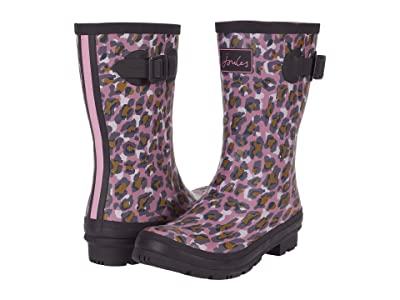 Joules Molly Welly (Pink Leopard) Women