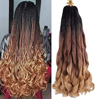 Spanish Curly Braids Hair 7 Pack Loose Wavy Spiral Curl Braids French Curl Crochet Braid Deep Wave Synthetic Hair Extensio...