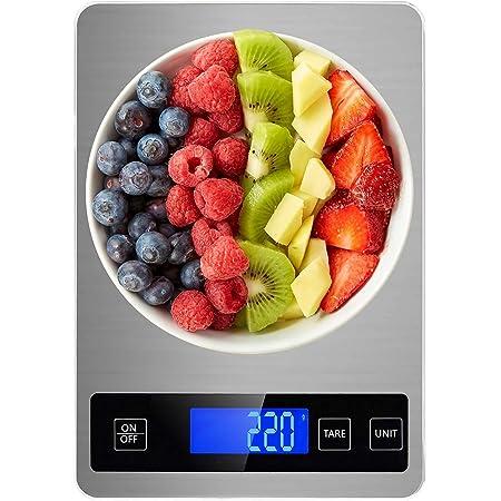 Balance de Cuisine, Balance Digitale Cuisine, Balance Alimentaire Électronique DOBAOJIA, Balance de Précision 1g, Vision Nocturne LCD, Fonction de Tare, Max 15kg, Grand Panneau Étanche 23 x 16cm