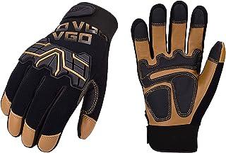 Vgo 1 Pair/3Pairs Safety Work Gloves,Mechanics Gloves,Impact Gloves,Rigger Gloves,Medium Duty(GA9617)