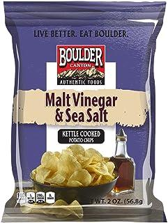 Boulder Canyon, Malt Vinegar & Sea Salt Kettle Cooked Potato Chips, 2.0 oz. (8 count)