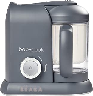 BEABA Babycook Solo 4 in 1 Steam Cooker & Blender and Dishwasher Safe, 4.5 Cups (Charcoal)