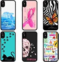 Personalized case for iPhone 11 Pro Xr Xs Max X 8 7 6 Dolphin Breast Cancer Butterfly Cat Flower Skull Summer Typography