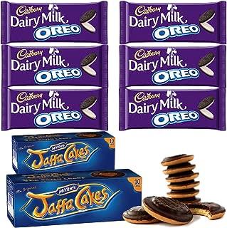 McVities Jaffa Cakes Two Boxes + Cadbury Dairy Milk Oreo | Total 6 bars of British Chocolate Candy - Cadbury Dairy Milk Oreo