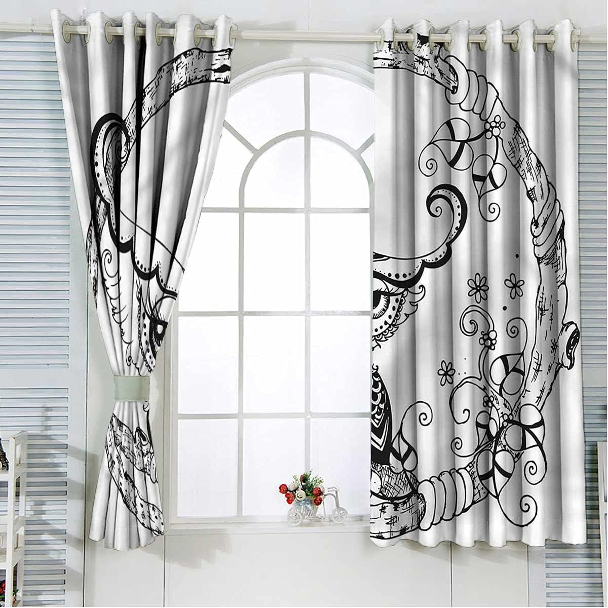 Owl Blackout Curtain Panels 2 Set Inch Industry No. 1 Length 2021 Black 108 Romantic