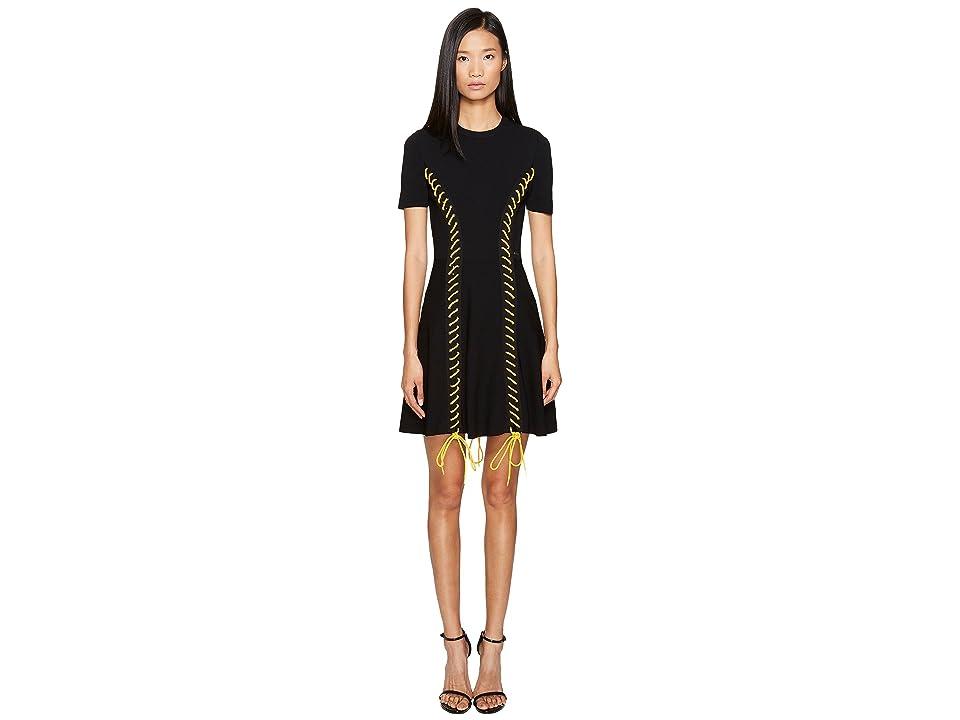 DSQUARED2 Skin Biker Short Sleeve Dress (Black) Women