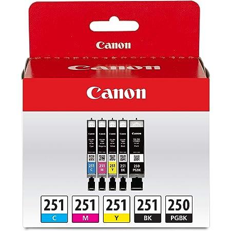 Canon PGI-250/ CLI-251 5 Color Amazon Pack
