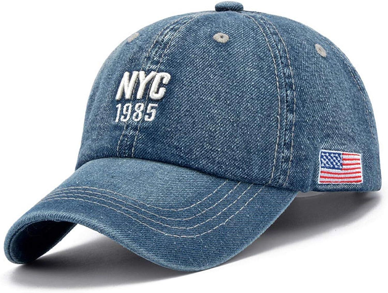 New York City hat Spring new work Embroidery Omaha Mall Cap Denim Hat Baseball