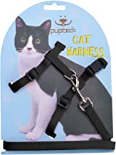 PUPTECK Adjustable Cat Harness Nylon Strap Collar with Leash