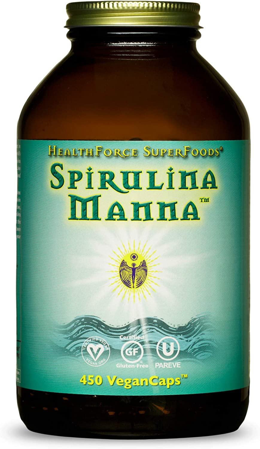 HealthForce Today's Limited time cheap sale only SuperFoods Spirulina Manna 450 VeganCaps - Certifi