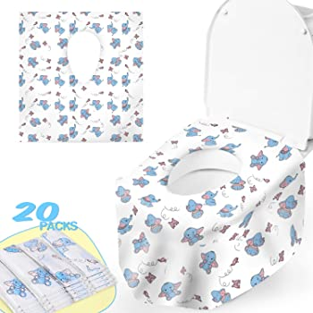 Toilet Seat Paper Covers Disposable Waterproof Toilet Seat Cover for Kids Adults and Daily Use//24PCS
