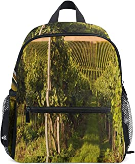 Small Hiking Backpack Bottle And Glass Of Wine And The Vineyards Of Suns Small Travel Backpack Perfect Size With Front Chest Buckle For School Travel