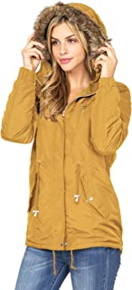 Ambiance Apparel Women's Hooded Sherpa Lined Jacket