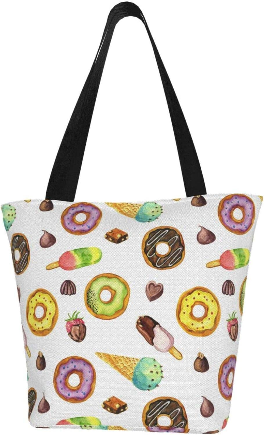 AKLID Watercolor Ice Quantity limited Cream Donuts 1 year warranty Water Resistant Large Extra
