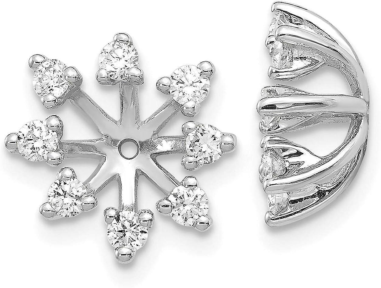 14k White Gold AA Fancy Diamond Earring Jacket