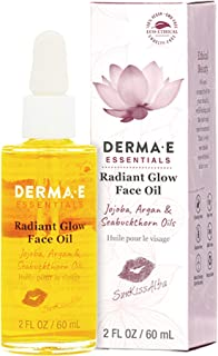 DERMA E SunKissAlba Radiant Face Glow Oil, 2 oz - Signature antioxidant-rich facial oil with Jojoba, Argan, and Seabucktho...