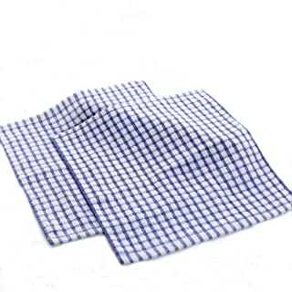 Xiazhi 100% Cotton Dish Cloths,Kitchen Towels, Cleaning Cloths, Pack of 12 (Blue)