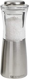 T&G CrushGrind Apollo Salt Mill, Stainless Steel and Acrylic, 150 mm