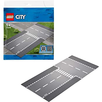 LEGO City Straight and T-Junction Building Blocks for Kids 60236