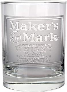 """Maker""""s Mark Whisky-Label geätztes Rocks-Glas"""