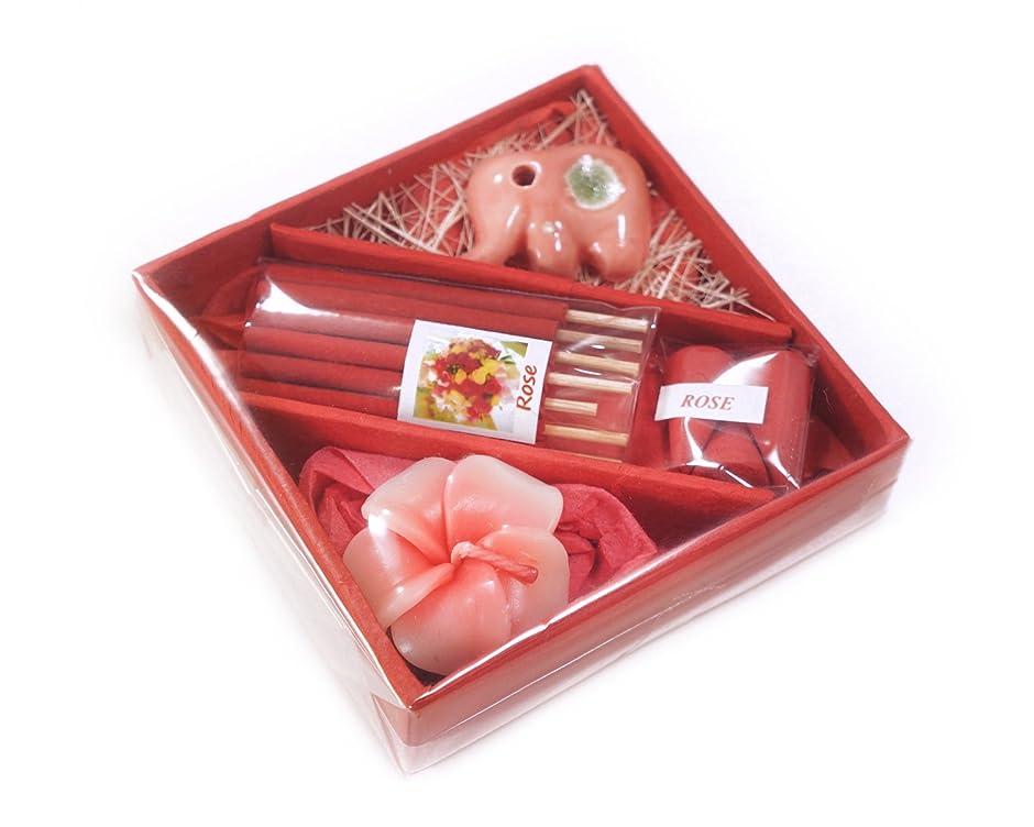 クランプ爆発する入場花お香とお香ホルダーin Squareギフトセット4インチ M レッド INC