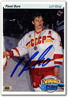 Pavel Bure Autographed 1990-91 Upper Deck Rookie Hockey Card - Hockey Slabbed Autographed Rookie Cards