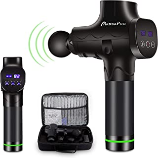 Massage Gun, Upgraded 20 Adjustable Speeds Handheld Vibration Deep Tissue Muscle Massager Device - with 6 Massage Heads and Portable Bag for Deep Muscle Tissue Massage