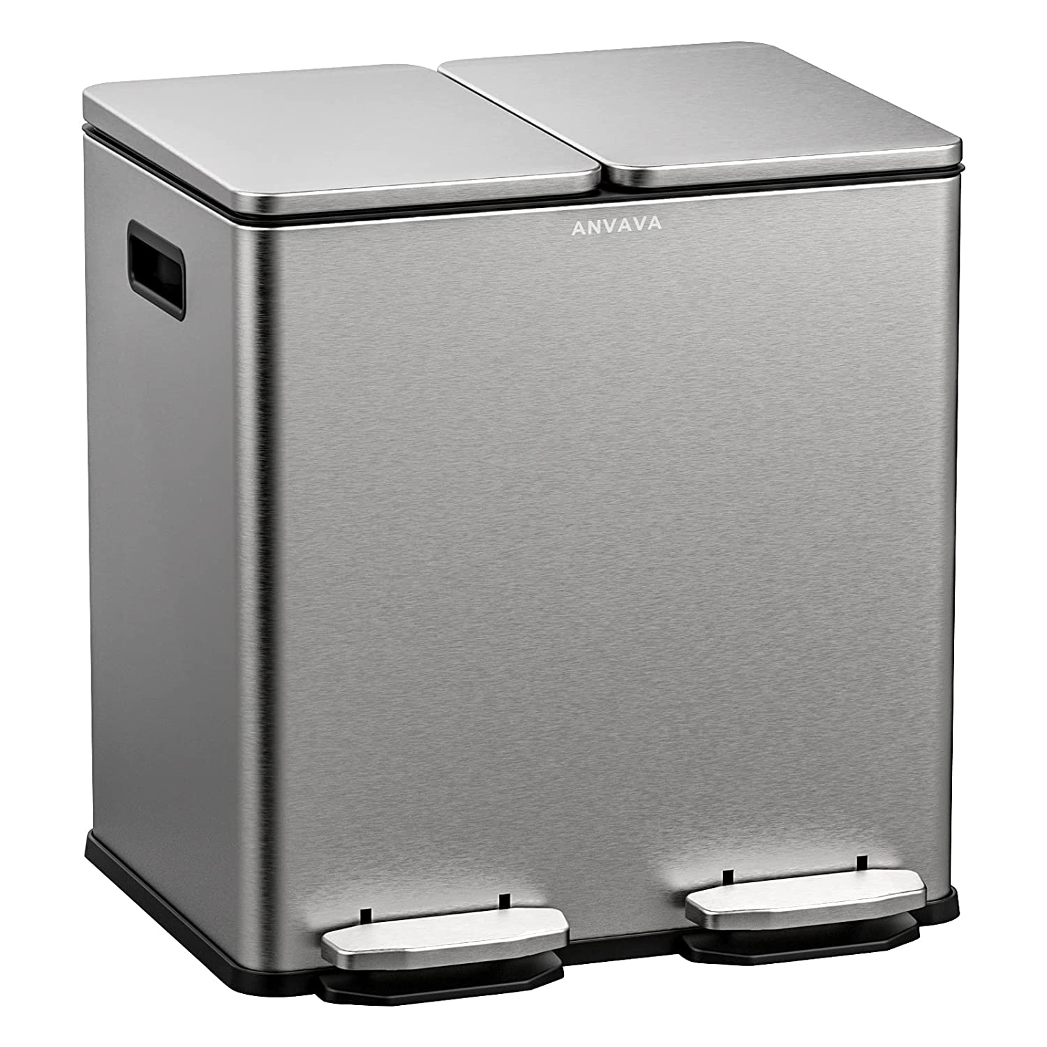 Max 87% OFF ANVAVA 20 Liter Dual Step Steel Can 2x10L 67% OFF of fixed price Trash Stainless