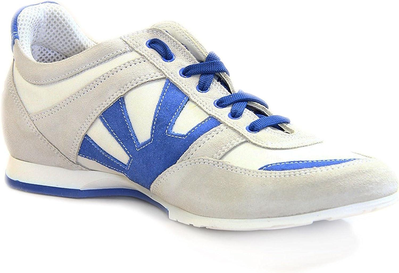 Kejo Men's Sneaker Leather shoes Red bluee Size  8