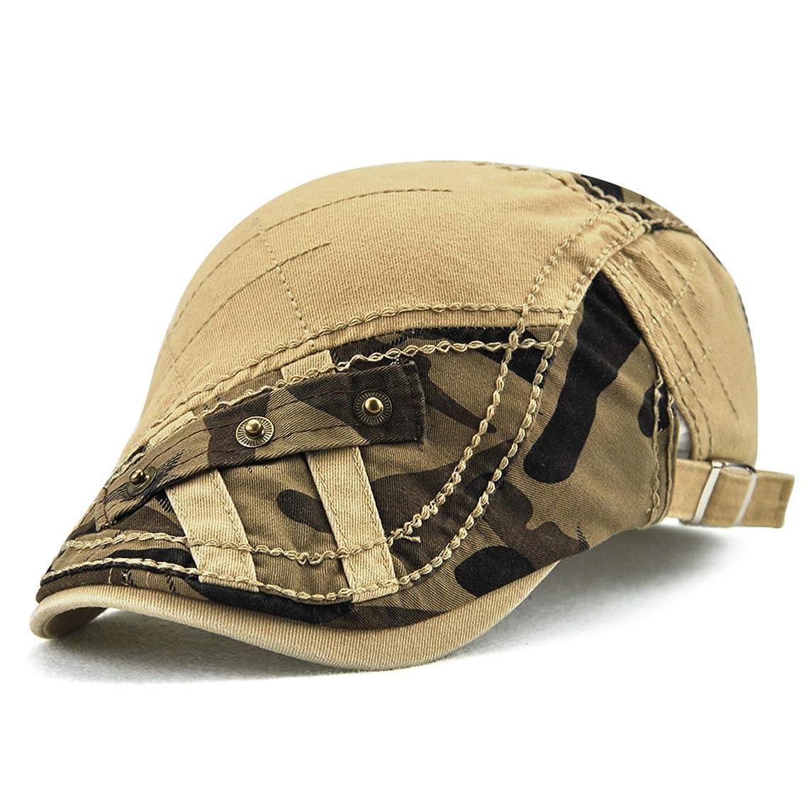 予測踏み台トークンSYMJP ハンチング帽子 メンズ キャスケット 綿 夏 釣り サイズ調整可能 シンプル 57cm?59cm 帽子