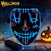 YXwin Purge Mask Light up LED Halloween Mask for Adults