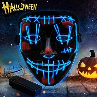 Purge Mask Light up LED Halloween Mask for Adults Men Women Boys Girls