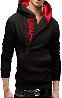 AARMY FIT Fleece Mens Sweatshirt Jacket (black-xs-afmhj-08-swag)