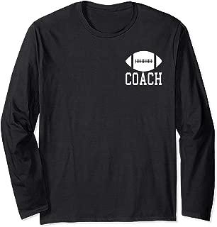 Football Coach Silhouette Clipart Graphic Logo Long Sleeve T-Shirt