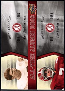 Football NFL 2012 Upper Deck University of Alabama All Time Alumni Duos #ATADSB Jay Barker/Ken Stabl