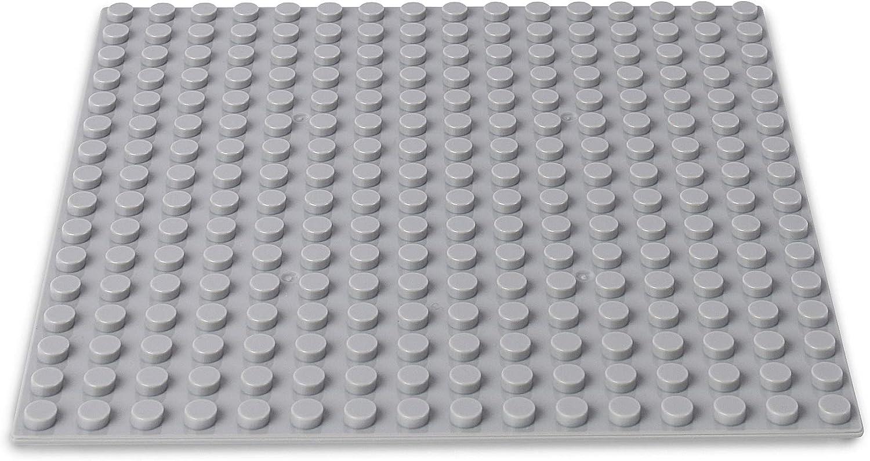 Bausteine - 520 Stück, Kompatibel zu Allen Anderen Herstellern - Inklusive Box und Grundplatte, Mehrfarbig Bunt Hell-grau