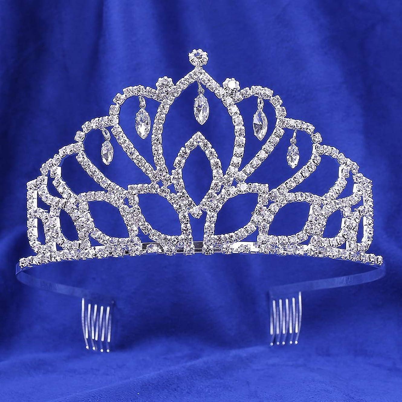歯車一般化する卑しい人気の結婚式の宝石類のヘッドドレスラインストーン爪チェーン花嫁の王冠の髪の櫛結婚式のアクセサリークラウン