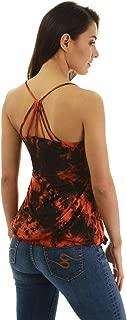 PattyBoutik Women Tie Dye Strap Back Blouson Top
