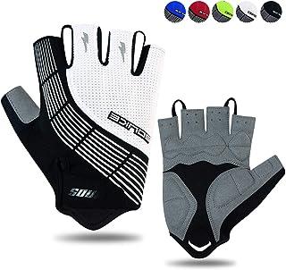 Souke Sports Cycling Gloves Half Finger Bicycle Gloves Moutain Bike Gloves For Men Women Padded Anti-Slip MTB Fingerless R...