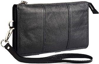 DFV mobile - Genuine Leather Case Handbag for INTEX Aqua Shine 4G - Black