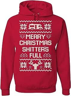 Tee Hunt Merry Christmas Shitter's Full Hoodie Ugly Sweatshirt Xmas