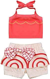 6445e63ca75f3 FEESHOW Baby Girls Moana Two-Piece Bikini Swimsuit Swimwear Bathing Suit  Adventure Outfit Copslay Costumes