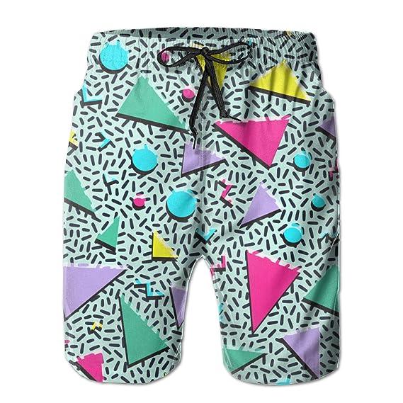 Shuwekk Mens Swim Trunks Printed Beach Shorts Quick Dry Summer Boardshorts with Mesh Lining