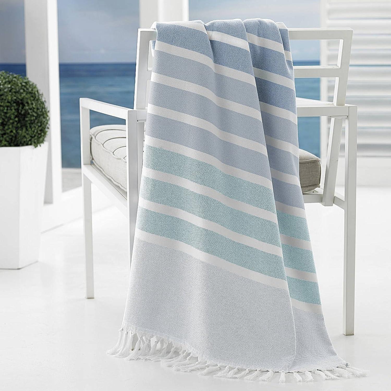 Kassatex Bodrum Beach Towels Collection (Beach Towel, bluee)