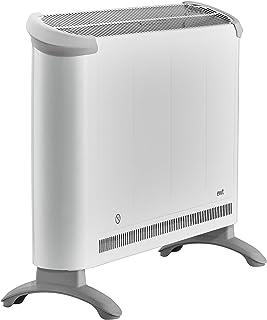 EWT CLIMA 280 TS - Calefactor (230V, 50 Hz, 2000W, 68 cm, 17,5 cm, 38 cm) Gris, Color blanco
