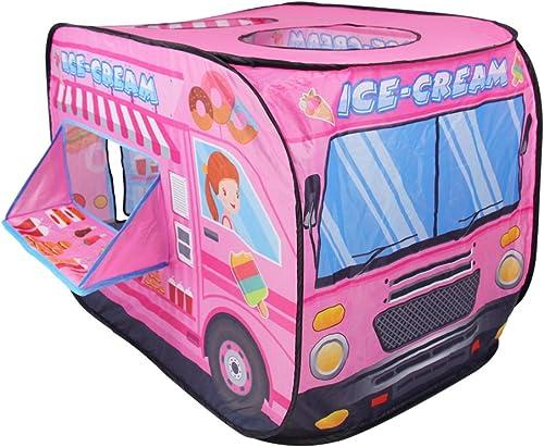 Nuheby Tente Enfant Fille Garcon,Tente Intérieur Exterieur Rose Pliable Jeu de Plein Air Sport Tente Pliante Portable...