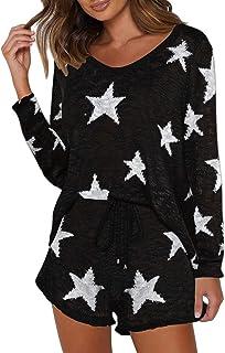Fixmatti Women Leopard Hooded Zip Sweatshirt Straight Long Pant Tracksuit