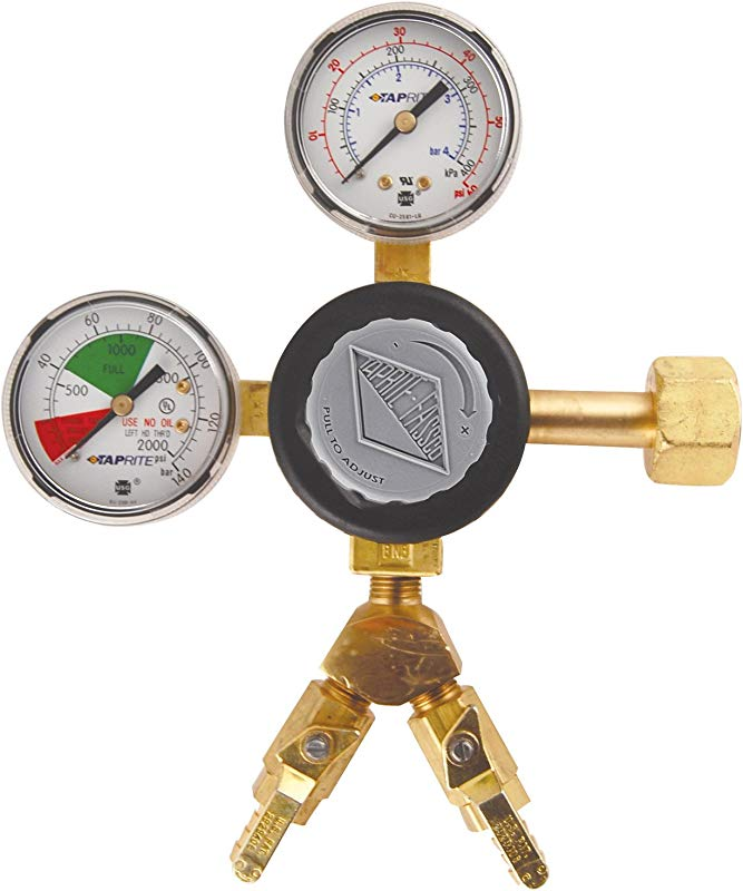 KegWorks T742 2 Two Product CO2 Regulator