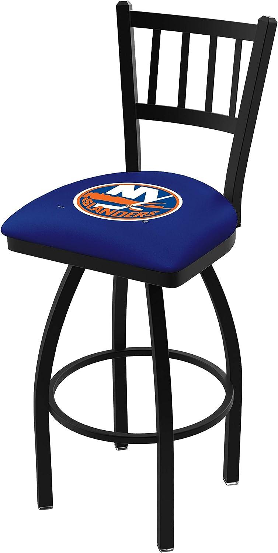 New York Islanders HBS bluee Jail Back High Top Swivel Bar Stool Seat Chair