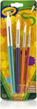 Crayola Kids Paint Brushes, Painting Supplies, 4 Count, Ages 3, 4, 5, 6